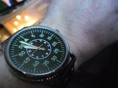 nice gents 1940s GERMAN airforce LUFTWAFFE WW11 military style  watch large 52mm
