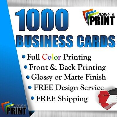 1000 Full Color Business Cards | Free Design | Free Shipping