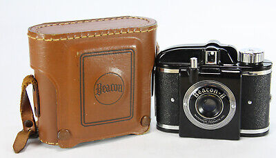 Vintage Beacon II Camera by Whitehouse Products with Original Leather Case