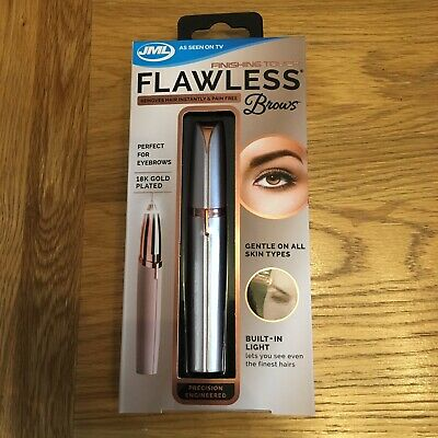 JML Finishing Touch Flawless Brows 18K Gold Plated New & Boxed