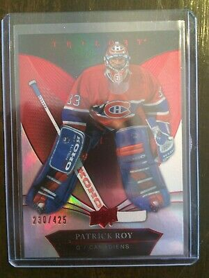 2018-19 Ud Trilogy Red Parallel 230/425 #50 Patrick Roy - Montreal Habs