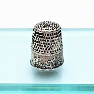 Salem Witch 1692 Sterling Silver Commemorative Thimble by Webster/Whiting