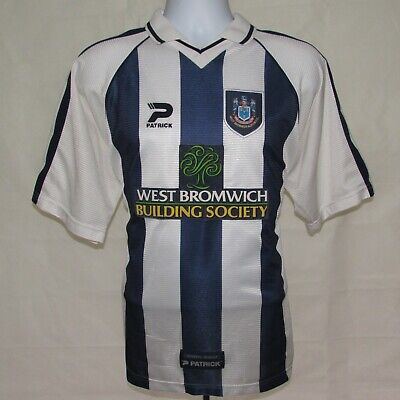 """1998-2000 West Bromwich Albion Home Football Shirt, Patrick, 42-44"""", Large (VGC)"""