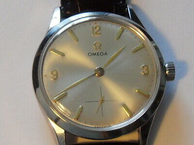 Rare Vintage 1954 OMEGA cal.266 Great Luminous Dial 35mm Case Swiss Men's Watch!