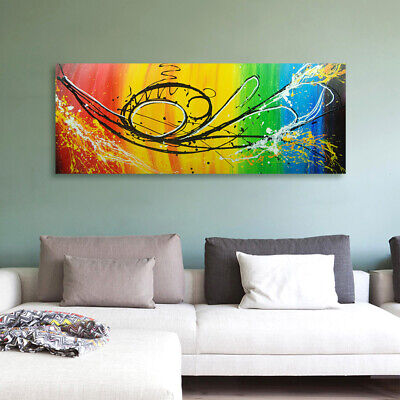 Abstract Hand Painted Oil Painting Canvas Modern Wall Art Home Decor Framed