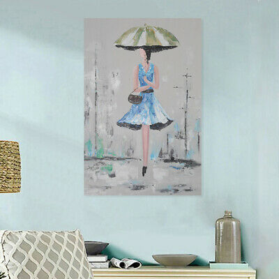 Modern Abstract Hand Painted Art Canvas Oil Painting Wall Decor Lady Framed