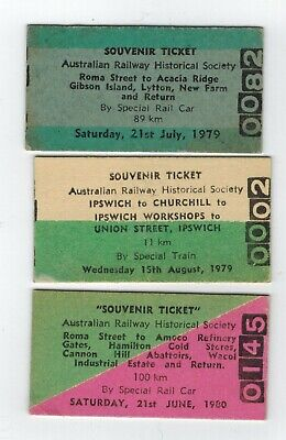 Qld Railways, Group ARHS Qld Tickets