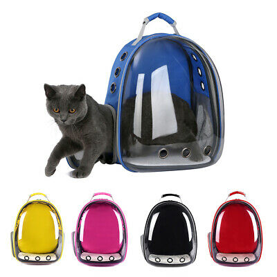 Transparent Capsule Pet Cat Dog Kitty Puppy Backpack Carrier Travel Bag Flowery