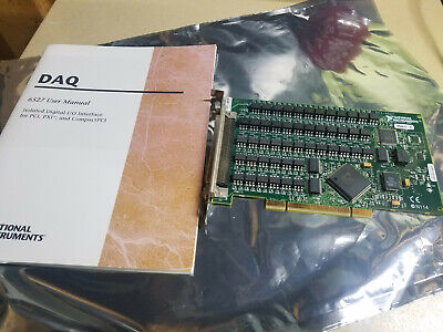 National Instruments PCI-6527 NI DAQ Isolated Digital I/O Card + Cable Terminals