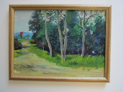 Mystery Artist Fox? Collection Painting 1940'S To 1950'S Landscape California ?