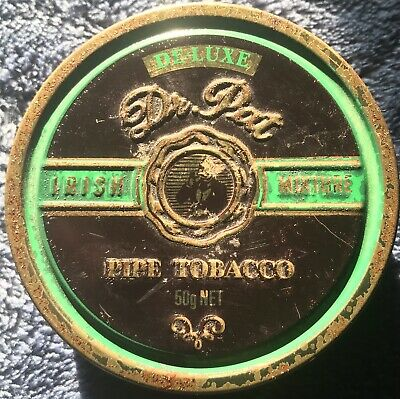 Unique Vintage Dr. Pat Irish Mixture De-Luxe Pipe Tabacco Tin Collectables