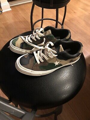 668bcbc365ff1 Converse Sneakersnstuff SNS Camo Patchwork One Star Women's Sneakers  AUTHENTIC