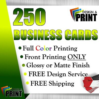 250 Full Color Business Cards | Free Design | Free Shipping