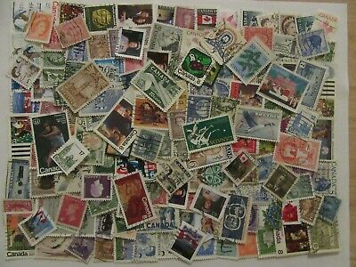 150 Canada Stamps - Used - All Different - Off Paper - Lot 1