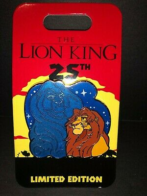 New Disney Pin The Lion King 25th Anniversary Mufasa And Simba Son And Dad LE