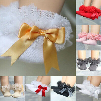 Baby Kids Toddle Cute Lace Ruffle Frilly Ankle Socks Princess Cotton Short Socks