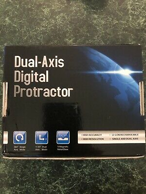 DXL360 Dual Axis Digital Angle Protractor Inclinometer meter w 5 Side Magnetic