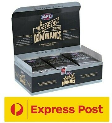 2019 AFL SELECT Series 2 Dominance Unsearched Factory Sealed Box 36 Packs NEW