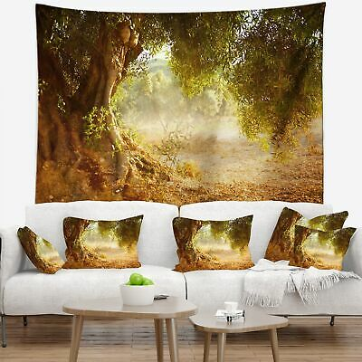 Designart 'Beautiful Old Olive Tree' Landscape Wall Tapestry
