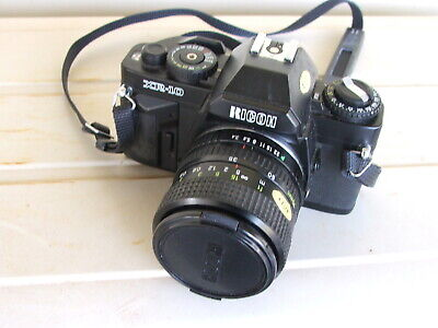 RICOH XR-10 SLR Film Camera with RICOH RIKENON Zoom 1:3.4-4.5 35-70mm Macro Lens