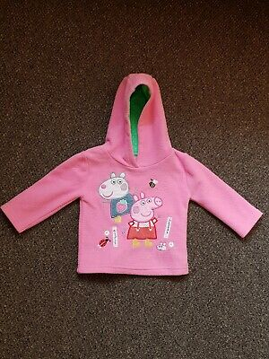 Mothercare  Baby Girl Peppa Pig Hoodie Jumper Pink Size 9-12 Months