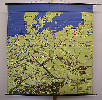 Schulwandkarte Wall Map Waterproof Map Europe Europe Tablecloth 155x161 ~ 1960