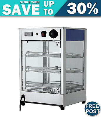 Devanti Commercial Food Warmer Pie Pastry Hot Display Showcase Stainless Steel