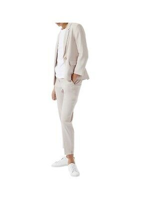 Womens Jigsaw Portofino Linen Suit Jacket And Trousers Pink 10