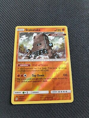 Pokemon Stakataka GX 159//171 Celestial Storm Full Art Near Mint Holo Ultra Rare