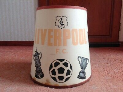 RARE LIVERPOOL FOOTBALL CLUB 1960s BEDSIDE TABLE LAMP SHADE