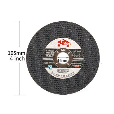 "4"" 105mm Thin Resin Cutting Disc Cut Off Stainless Steel Metal for Angle Grinder"