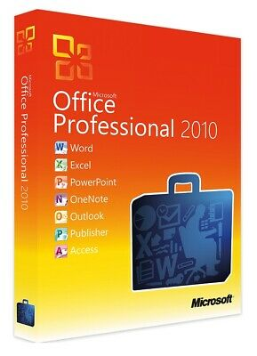 Microsoft Office 2010 Professional Pro Plus 32/64bit Genuine Key For License