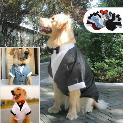 Pet Puppy Dog Clothes Costume Apparel Tuxedo Wedding Suit for Large Medium Small