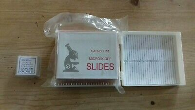 Cat No 7101 50 micro scope slides and 100 cover glass