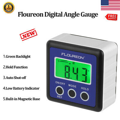 Digital Bevel Box Gauge LCD Green Backlight Display Angle Finder Protractor 0~90