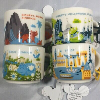 Starbucks Disney Park You Are Here Mug Ornament Epcot Animal Magic Hollywood - 4