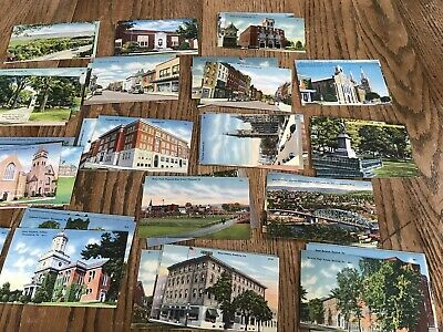 Lot of Old Vintage mid 1900's North East Central PA POSTCARDS Pennsylvania