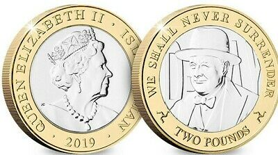 Own The D-Day Leader 'Churchill' £2 Coin In Brilliant Uncirculated Quality