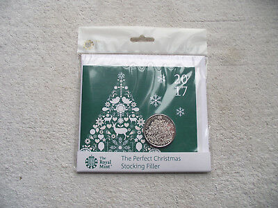 2017 UK Christmas Tree Brilliant Uncirculated £5 Coin Pack BU Five Pound Sealed