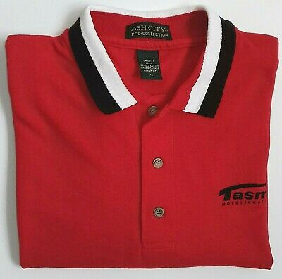 TASMAN MOTORSPORT GROUP Ash City Pro-Collection Red XL Cotton Polo Shirt - RARE