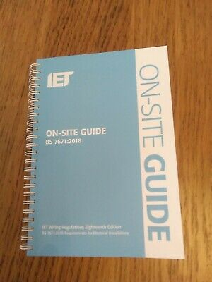 18th Edition On Site Guide BS 7671 2018