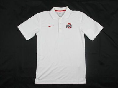 NEW Nike Ohio State Buckeyes - White Dri-Fit Polo Shirt (Multiple Sizes)