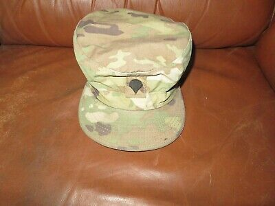 Army Multicam Patrol CAP Sun Hat Sz 7 3/8 Sam Bonk Uniform Co, Spc Rank sewn on