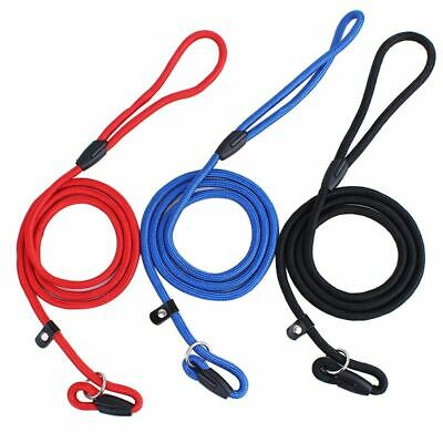 Adjustable Pet Dog Nylon Rope Training Leash Slip Lead Strap Traction Collar