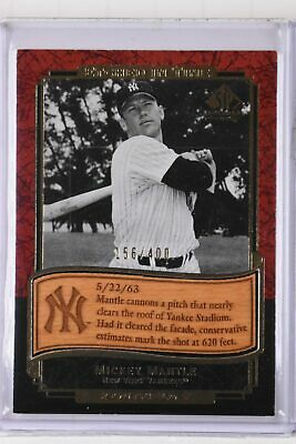 2003 SP Legendary Cuts Mickey Mantle Etched in Time /400
