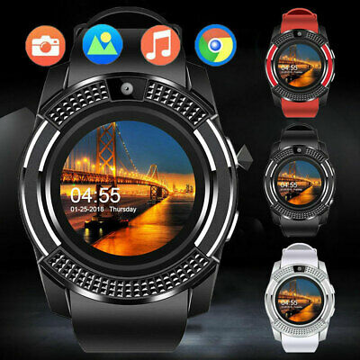 V8 Smart Wrist Watch Bluetooth GSM Card Fitness Pedometer For Android Unisex