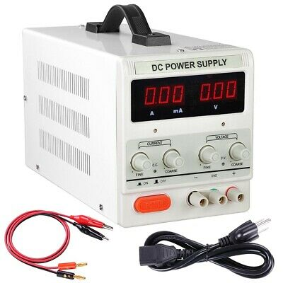 30V 10A Adjustable DC Power Supply Precision Variable Dual Digital Lab Test 110V