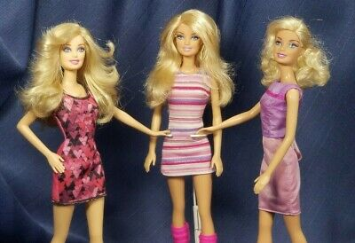 MDRN Mattel 2010's Blonde Re-Styled Barbie Doll (3) and Fashion Lot - No Reserve