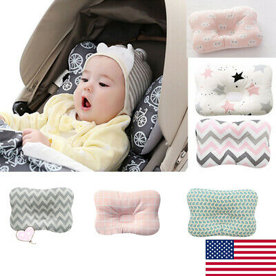 US Soft Baby Pillow Prevent Flat Head Tops Memory Foam Cushion Sleeping Support