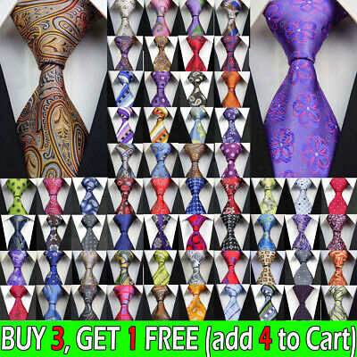 163 Styles Men Silk Tie Set Jacquard Woven Necktie Set Wedding Paisley Stripe UK